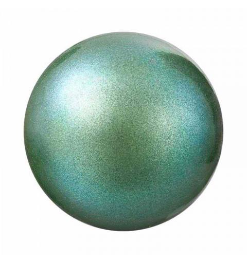12MM Pearlescent Green Nacre Pearl round Preciosa
