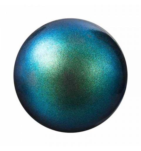 4MM Pearlescent Peacock Green Nacre Pearl round Preciosa