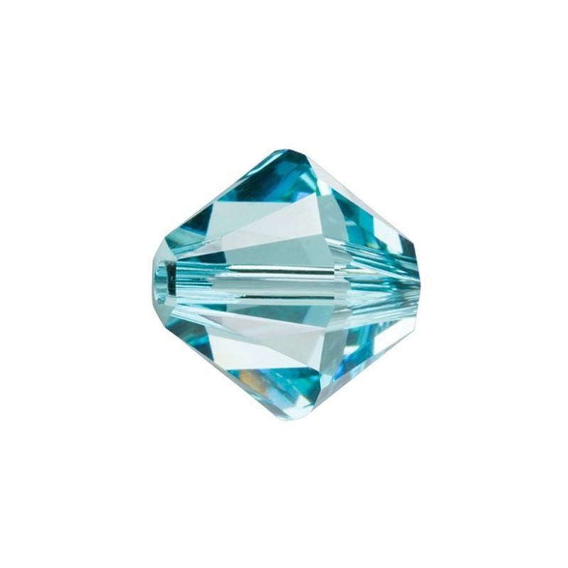 6MM Light Turquoise (263) 5328 XILION Bi-Cone SWAROVSKI ELEMENTS