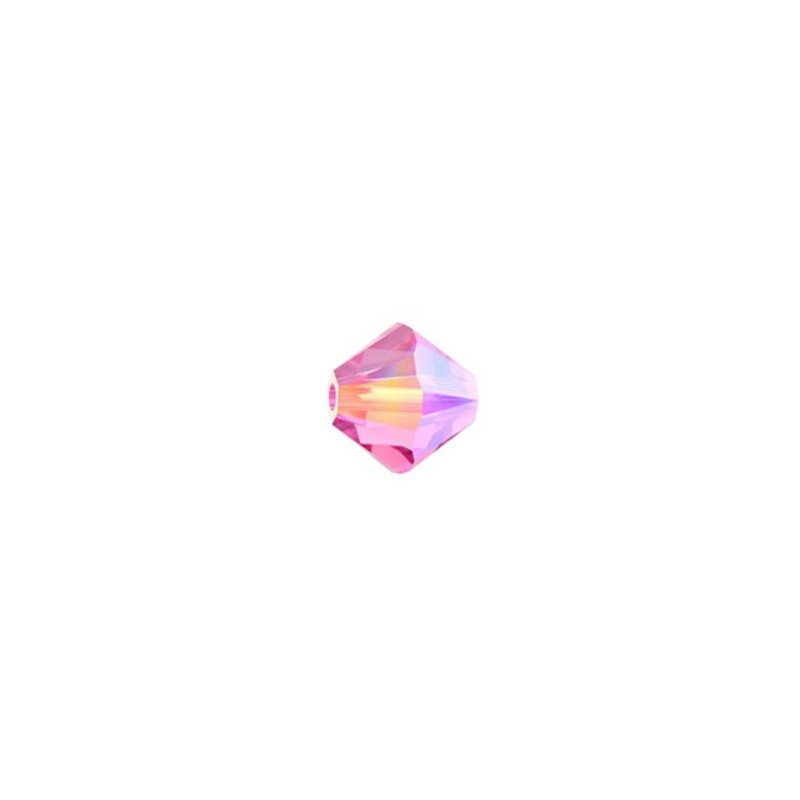 6MM Rose AB2X (209 AB2) 5328 XILION Bi-Cone SWAROVSKI ELEMENTS