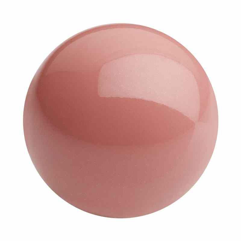 8MM Salmon Rose Nacre Pearl round Preciosa