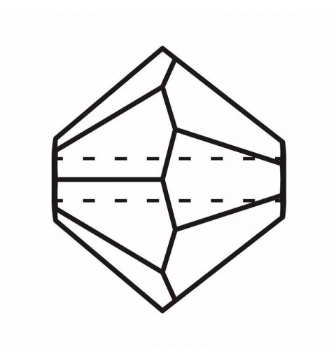 3MM Crystal Labrador Full BiCone Rondell Preciosa Beads