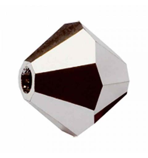 4MM Crystal Labrador Full BiCone Rondell Preciosa helmes