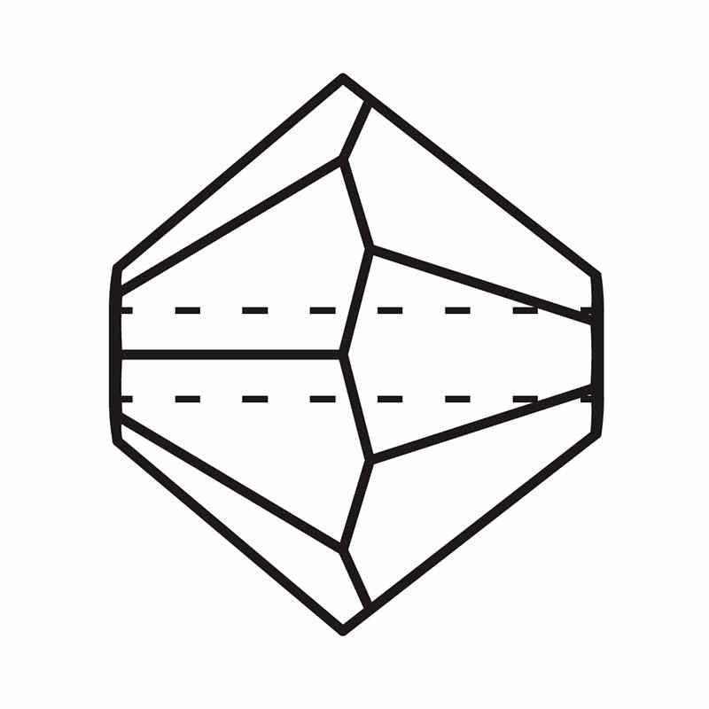 4MM Crystal Labrador Full BiCone Rondell Preciosa Beads