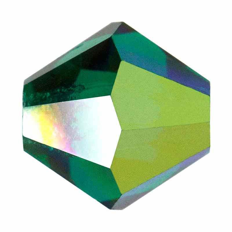 6MM Emerald AB2x (50730) Bi-Cone Rondell Preciosa helmes