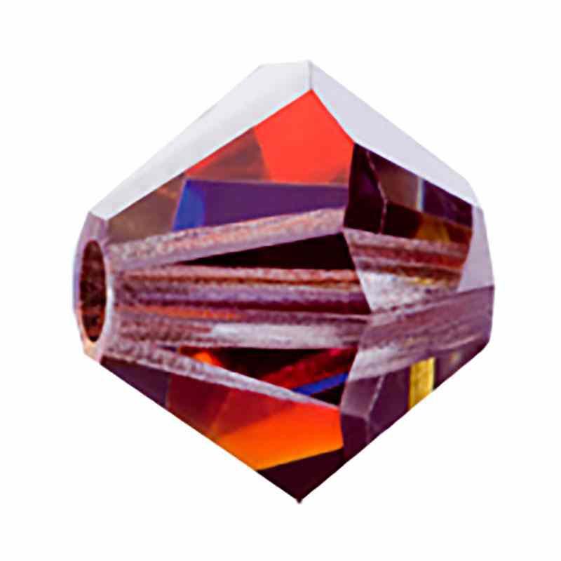 4MM Crystal Volcano BiCone Rondell Preciosa helmes