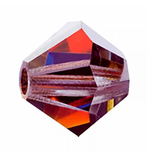 4MM Crystal Volcano BiCone Rondell Preciosa Beads