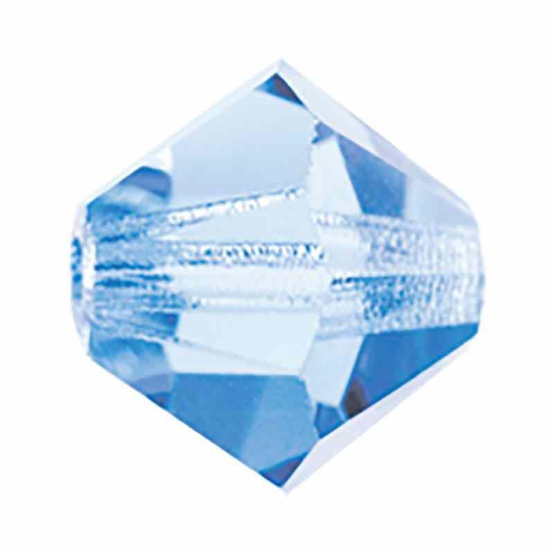 4MM Light Sapphire BiCone Rondell Preciosa helmes
