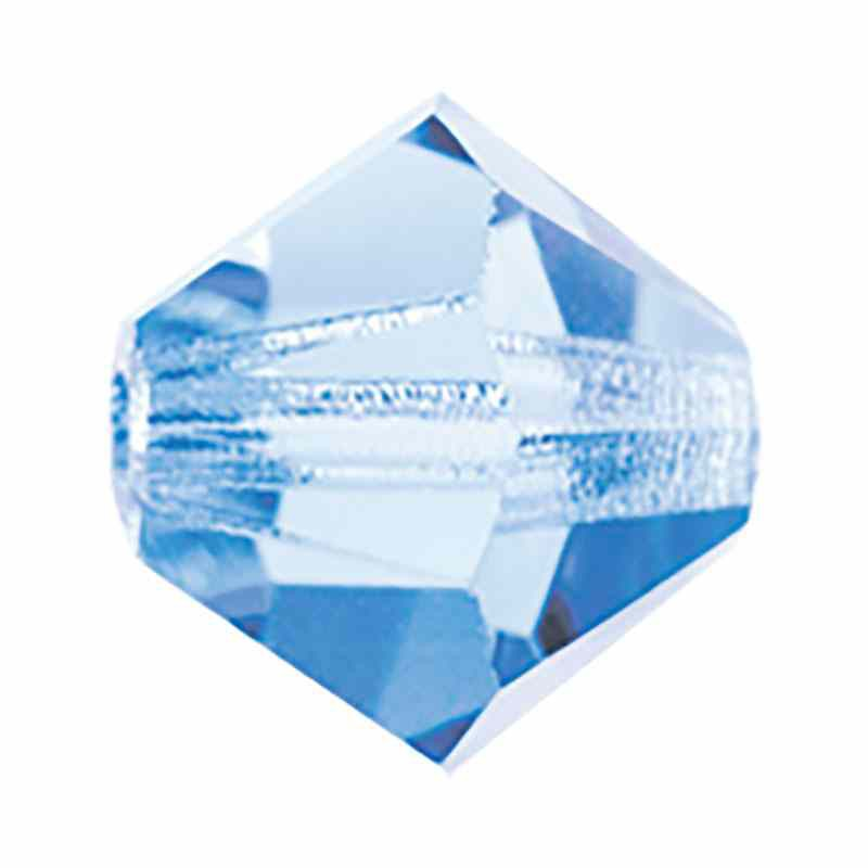 6MM Light Sapphire BiCone Rondell Preciosa helmes