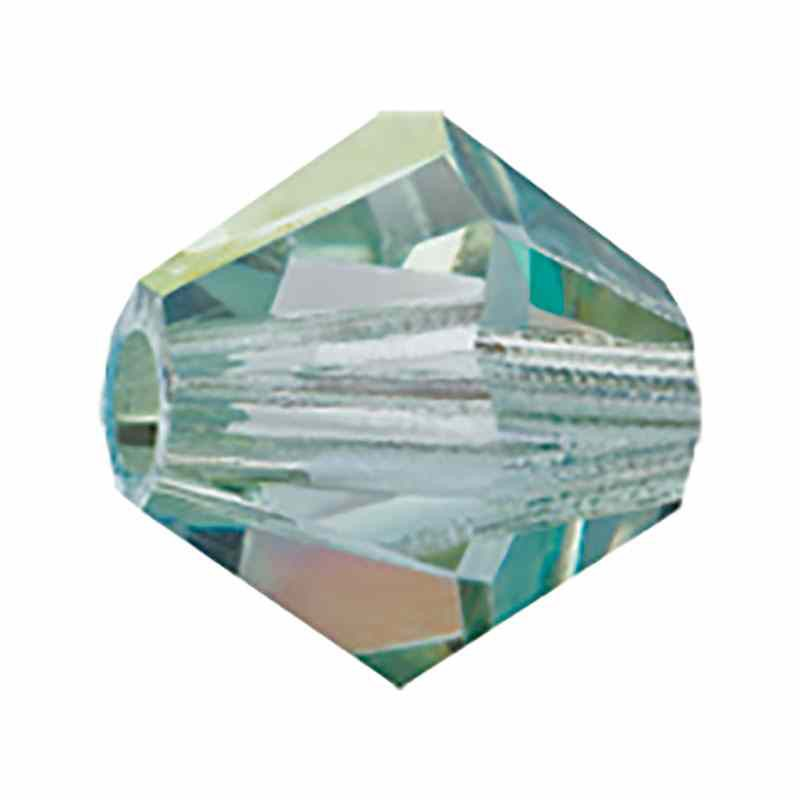 3MM Crystal Viridian BiCone Rondell Preciosa Beads