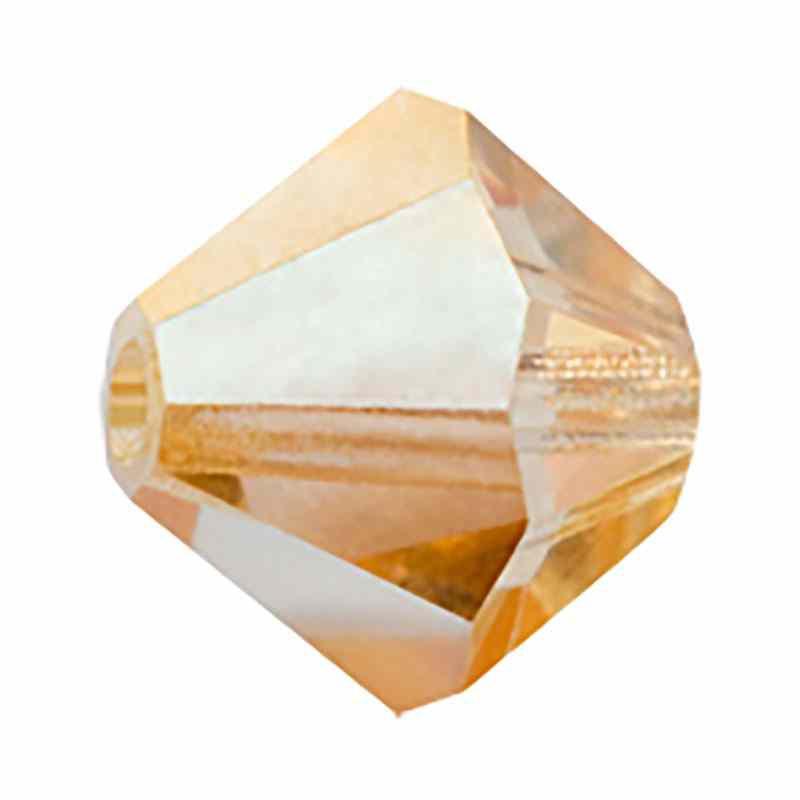 4MM Crystal Blond Flare BiCone Rondell Preciosa Beads