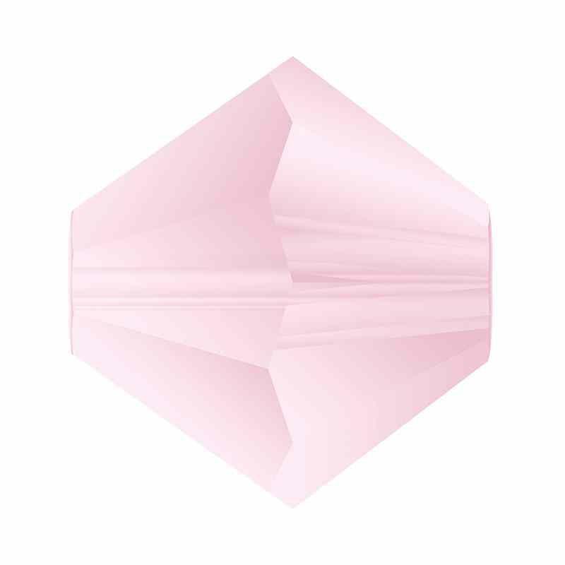 4MM Pink Sapphire Matt Bi-Cone Rondell Preciosa helmes