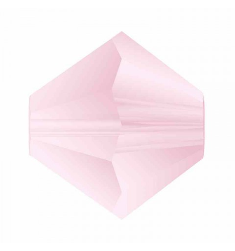 4MM Pink Sapphire Matt Bi-Cone Rondell Preciosa Beads