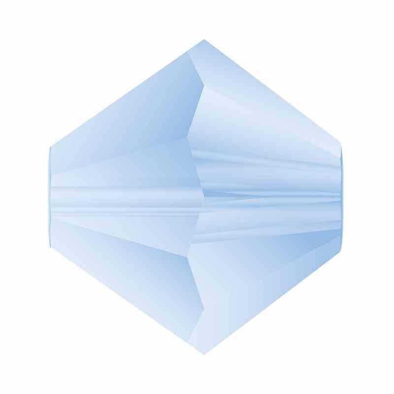 4MM Light Sapphire Matt Bi-Cone Rondell Preciosa бусины