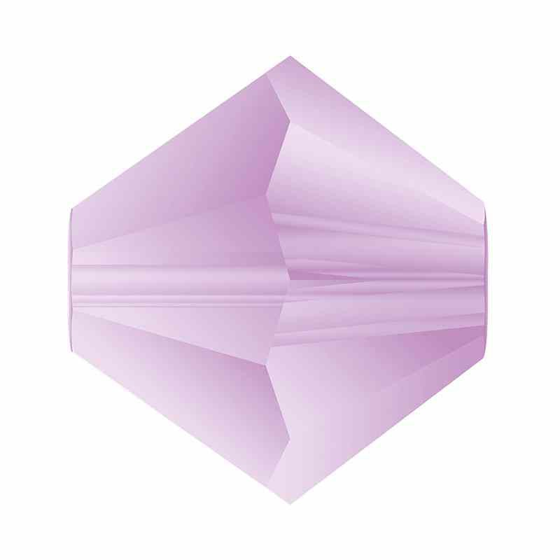 4MM Violet Matt Bi-Cone Rondell Preciosa Beads