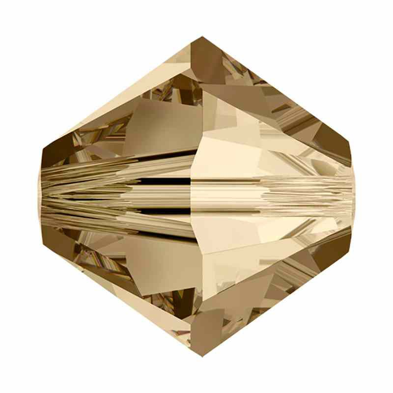 2.5MM Crystal Golden Shadow (001 GSHA) 5328 XILION Bi-Cone Бусины SWAROVSKI ELEMENTS