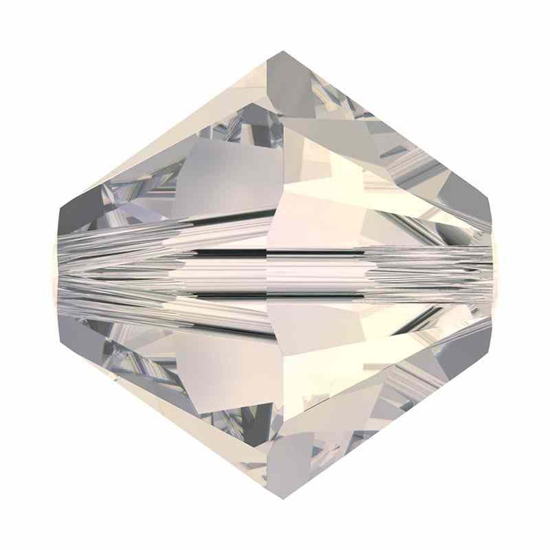 4MM Crystal Moonlight 5328 XILION Bi-Cone Beads SWAROVSKI