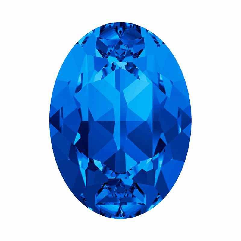 14x10mm Sapphire F Oval Fancy Stone 4120 Swarovski