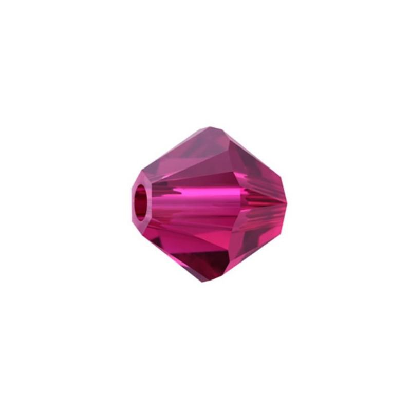 6MM Ruby (501) 5328 XILION Bi-Cone SWAROVSKI ELEMENTS