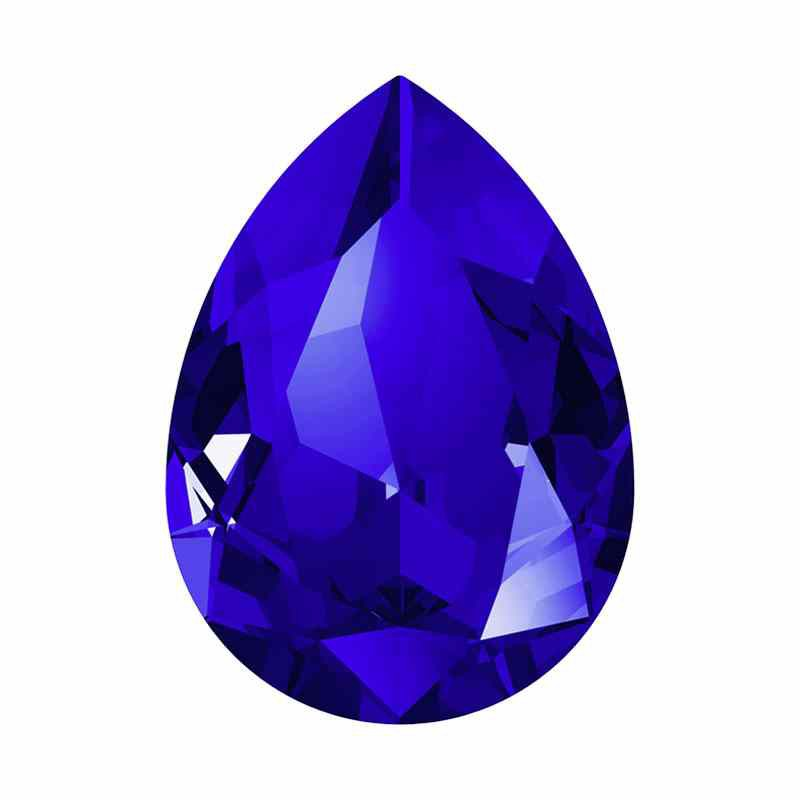 14x10mm Majestic Blue F Poire Fancy Cristal 4320 de Swarovski