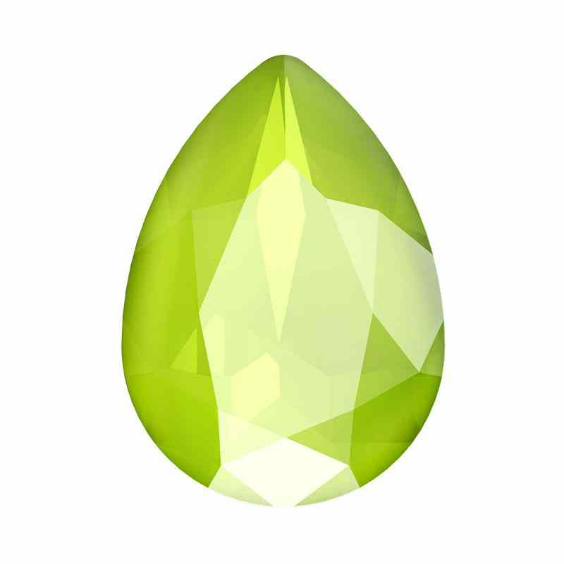 14x10mm Crystal Lime Pirnikujuline Ehete Kristall 4320 Swarovski