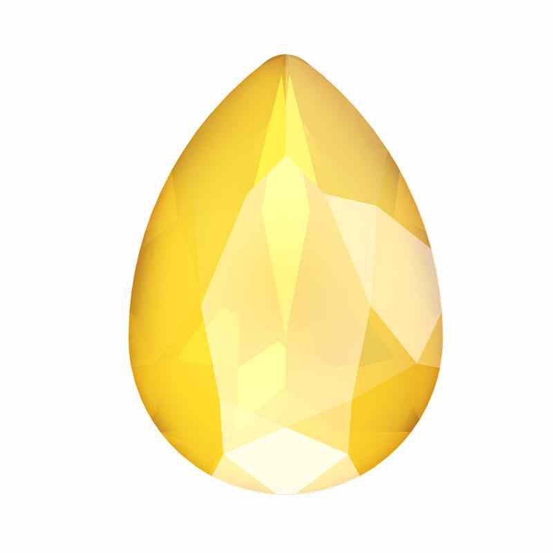 18x13mm Crystal Buttercup Pear-Shaped Fancy Stone 4320 Swarovski