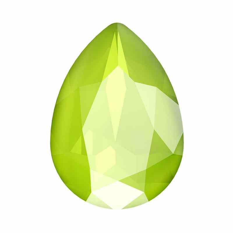 18x13mm Crystal Lime Pirnikujuline Ehete Kristall 4320 Swarovski