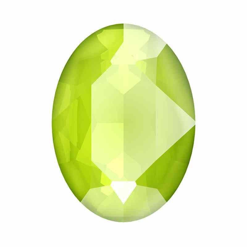 18x13mm Crystal Lime Oval Fancy Stone 4120 Swarovski