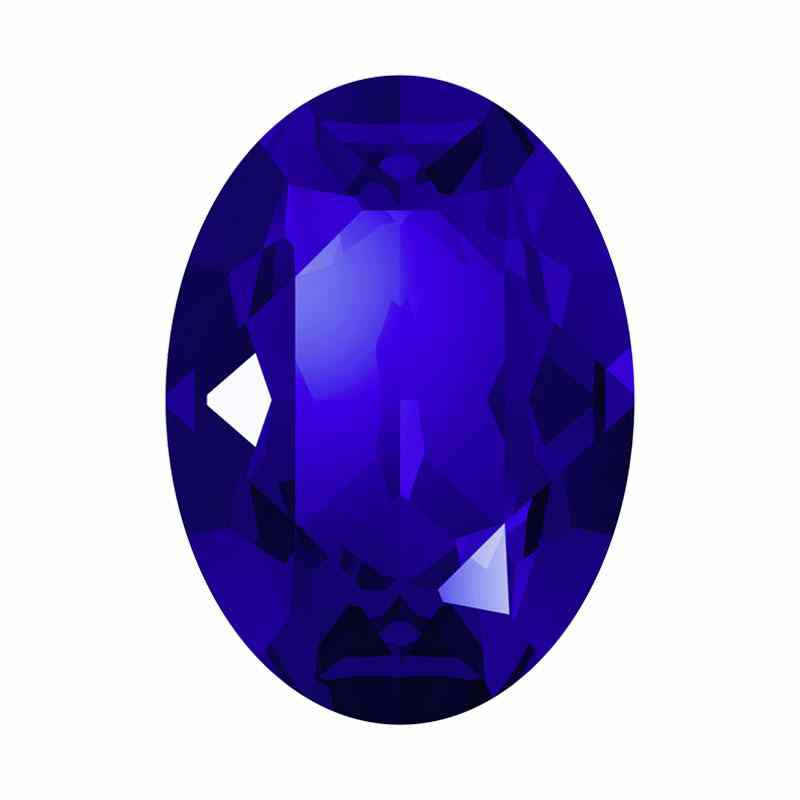 18x13mm Majestic Blue F Ovale Fancy Cristal 4120 de Swarovski