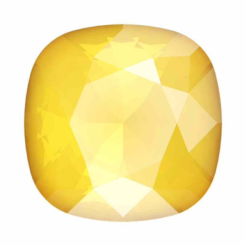 10mm 4470 Crystal Buttercup Cushion Square Fancy Stone Swarovski