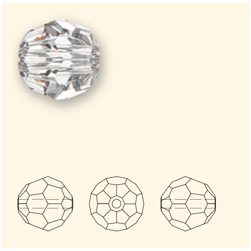 6MM Light Siam (227) 5000 Round Bead SWAROVSKI ELEMENTS