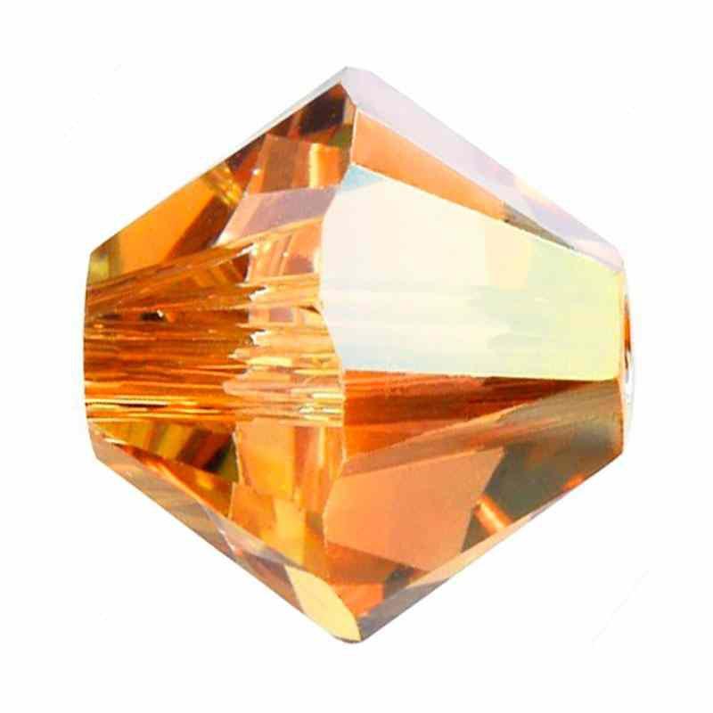 4MM Crystal Metallic Sunshine 5328 XILION Bi-Cone Бусины SWAROVSKI