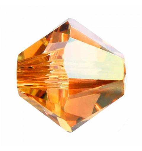 4MM Crystal Metallic Sunshine 5328 XILION Bi-Cone Beads SWAROVSKI