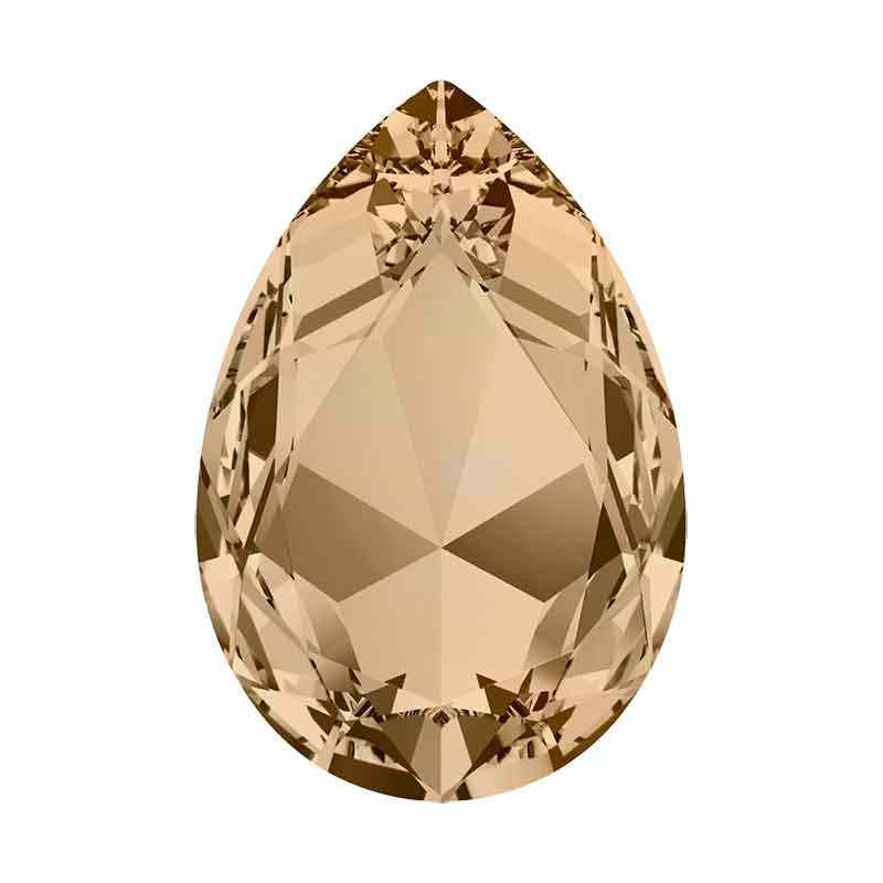 30x20mm Crystal Golden Shadow F Pear-Shaped Fancy Stone 4327 Swarovski