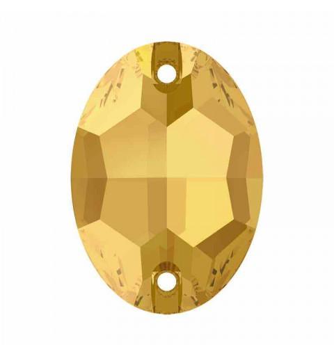 16X11MM Crystal Metallic Sunshine F 3210 Ovale SWAROVSKI Pierres à coudre