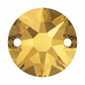 10MM Crystal Metallic Sunshine F 3288 XIRIUS SWAROVSKI Sew-on Stone