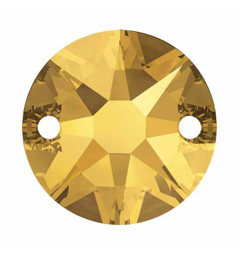10MM Crystal Metallic Sunshine F 3288 XIRIUS SWAROVSKI Sew-on Stone
