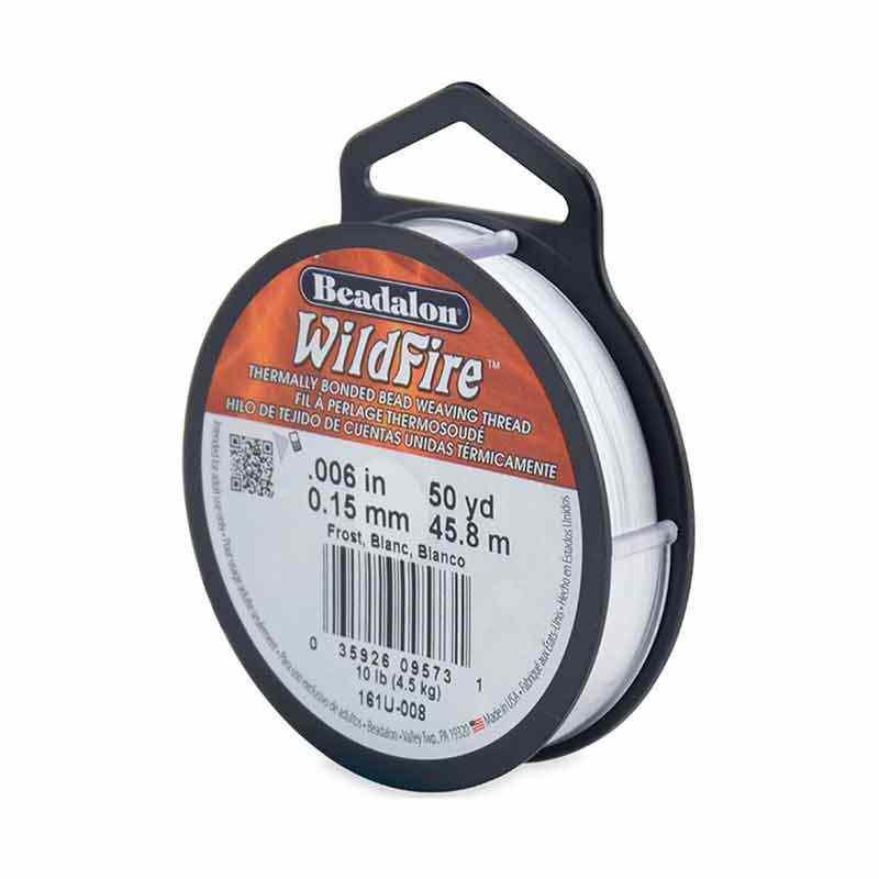 0.15mm WildFire Белая нейлоновая нить Beadalon 45.8m
