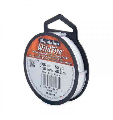 0.15mm WildFire Valge Nailon niit Beadalon 45.8m