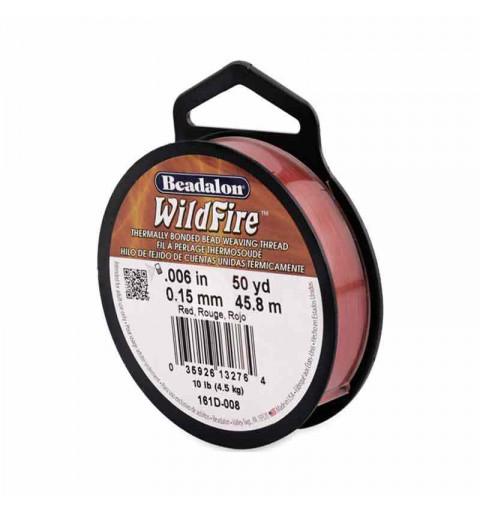 0.15mm WildFire Красная нейлоновая нить Beadalon 45.8m