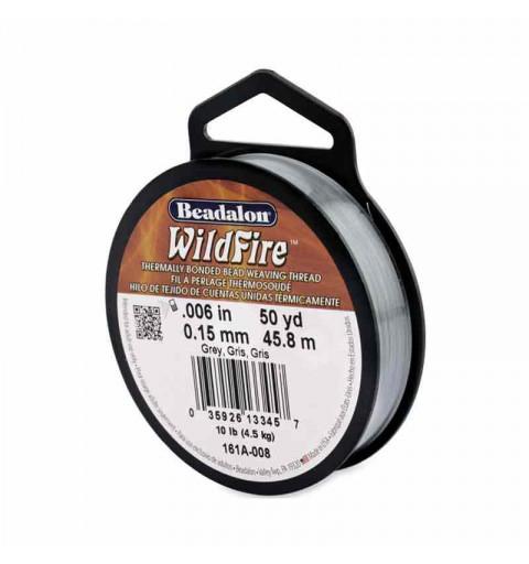 0.15mm WildFire Grey Nylon thread Beadalon 45.8m