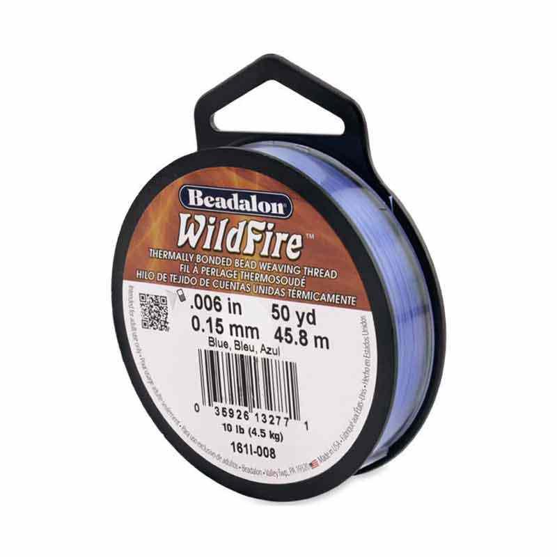 0.15mm WildFire Bleu Fil nylon tressé Beadalon 45.8m