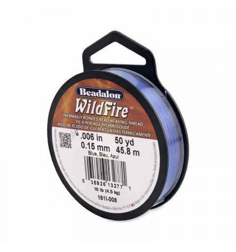 0.15mm WildFire Blue Nylon thread Beadalon 45.8m
