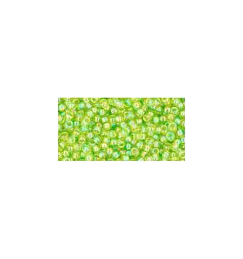 TR-11-164 Transparent-Rainbow Lime Green TOHO Seemnehelmed