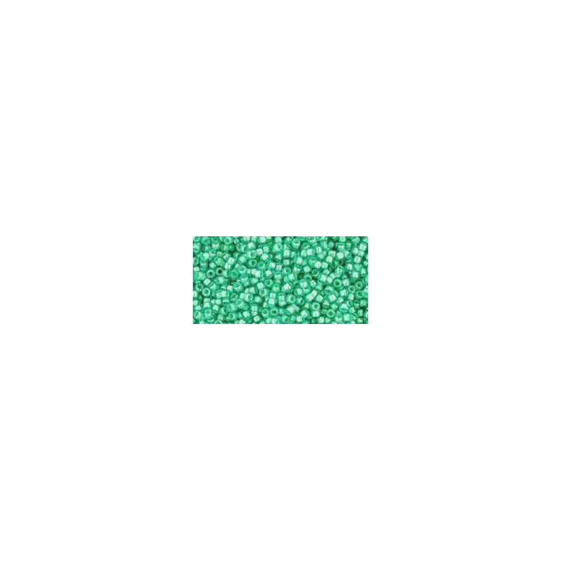 TR-15-954 Inside-Color Aqua/Light Jonquil Lined TOHO Seemnehelmed