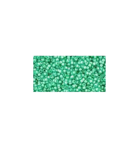 TR-15-954 Inside-Color Aqua/Light Jonquil Lined TOHO Seed Beads