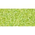 TR-15-164 Transparent-Rainbow Lime Green TOHO Seed Beads
