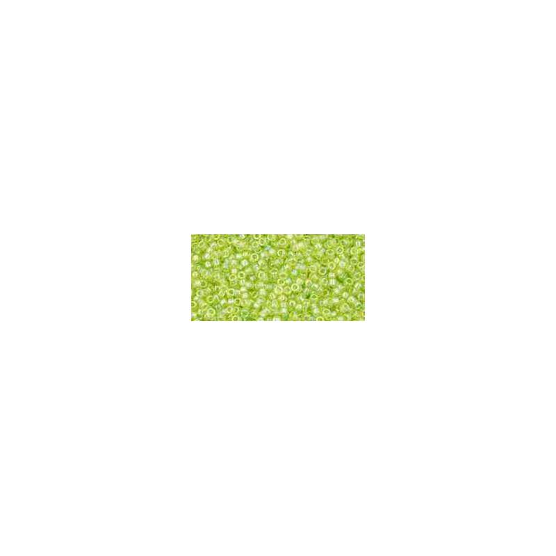TR-15-164 Transparent-Rainbow Lime Green TOHO Perles de Rocailles