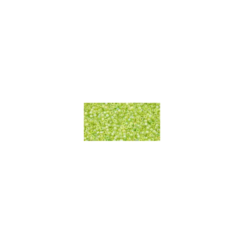 TR-15-164 Transparent-Rainbow Lime Green TOHO Seed Beads