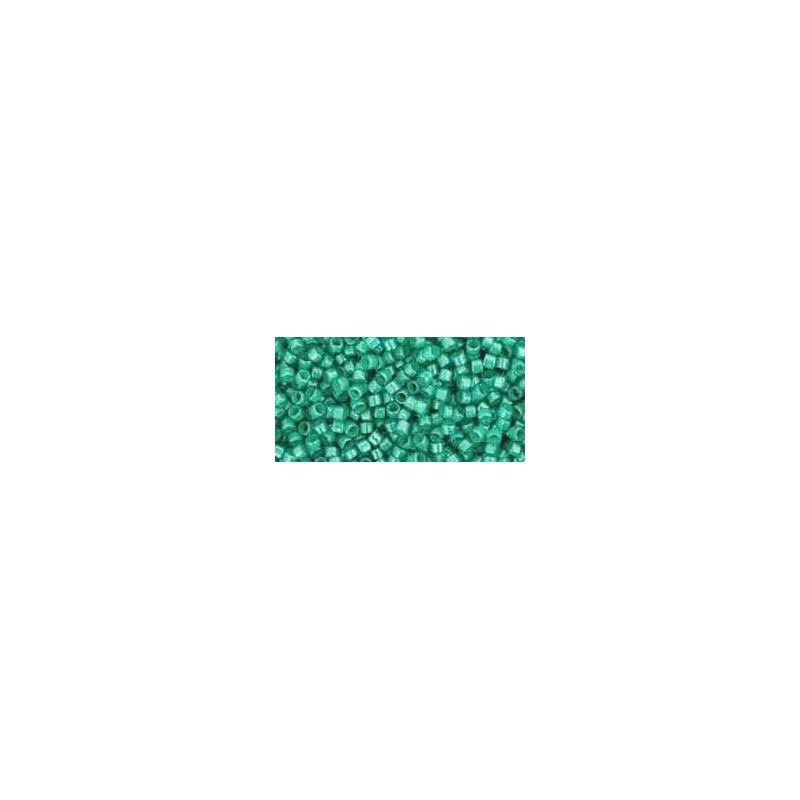 TT-01-954 Inside-Color Aqua/Light Jonquil Lined TOHO Treasures Seemnehelmed